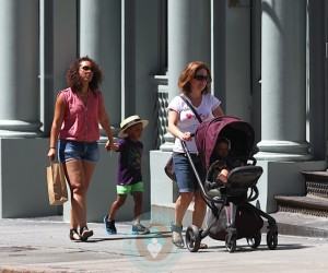 Alicia Keys with her son, Egypt and stepson, Kassem Dean Jr