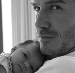 David Beckham Poses With His Princess