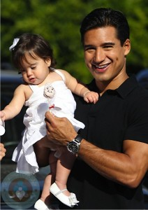 Mario Lopez with his daughter Gia
