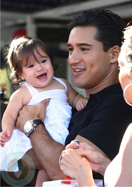 Mario Lopez With His Daughter Gia Growing Your Baby