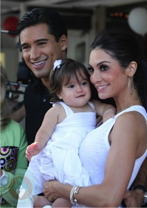 Mario Lopez and girlfriend Courtney Mazza with their daughter Gia