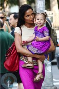 Padma Lakshmi and daughter Krishna in NYC