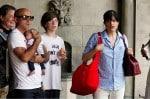 Selma Blair with her fiance Jason and son Arthur