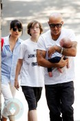 Selma Blair with her fiance Jason and son Arthur