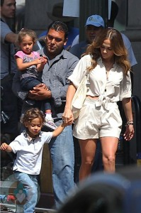 Jennifer Lopez with Max and Emme