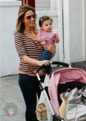 Rachel Stevens with baby Amelie