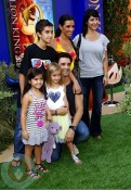Gilles Marini with his wife Carole(yellow) and daughter Julianna(heart on t)