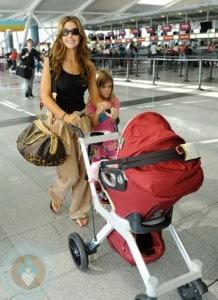 Denise Richards at JFK with daughter Sam