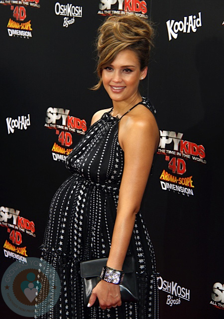 Jessica Alba at the premiere of Spy Kids 4