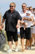 Elton John and David Furnish with son Zachary in St.Tropez