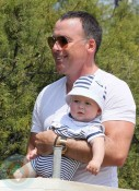 David Furnish with son Zachary in St.Tropez