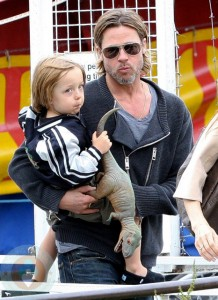 Brad Pitt with his son Maddox