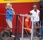 Shiloh and Zahara Jolie-Pitt