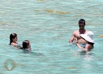 David Charvet and Brooke Burke with daughters Sierra and Heaven