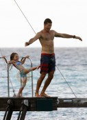 David Charvet with daughter Heaven in St. Barts!