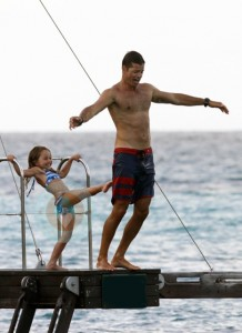 David Charvet with daughter Heaven in St
