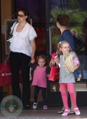 Jennifer Garner with daughters Violet and Seraphina at American Girl