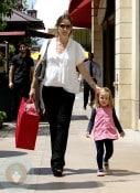 Jennifer Garner with daughter Seraphina at American Girl