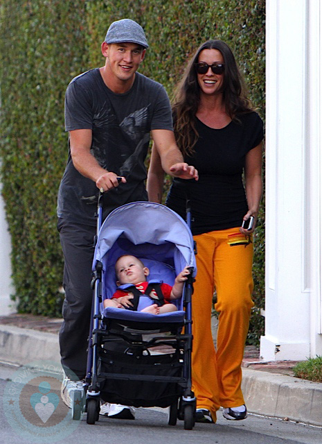 Alanis Morissette with her husband Mario Treadway and son Ever