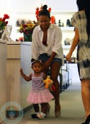 Christina Milian at Fred Segal with her daughter Violet Nash