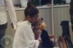 Christina Milian at Fred Segal with her daughter Violet Nash