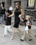 Angelina Jolie with Shiloh and Maddox