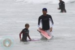 David Beckham with son Romeo