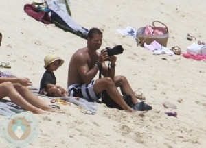 David Charvet on the beach in St