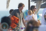 Sofia Coppola and daughter Cosmina with fiance Thomas Mars
