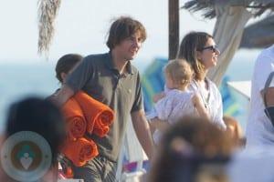 Sofia Coppola and daughter Cosmina with fiance Thomas Mars