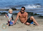 Gavin and Zuma Rossdale at the beach in Malibu