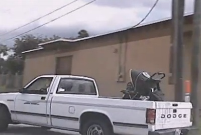 Keyona Davis With Stroller In Back Of Truck Growing Your Baby