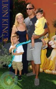 Melissa Joan Hart & husband Mark with sons Mason and Braydon Wilkerson