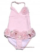 Kate Mack Girls Pink Vintage Roses One Piece Swimsuits