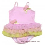 Kate Mack Girls Pink / Green Fancy Ballerina Tutu