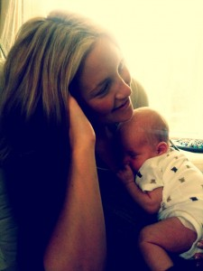 Kate Hudson and baby Bingham