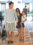 Kourtney Kardashian and Scott Disick with son Mason in NYC