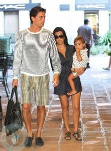 Kourtney Kardashian and Scott Disick with son Mason in NYC