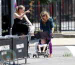 Sarah Jessica Parker with daugher Tabitha and Marion out in Soho