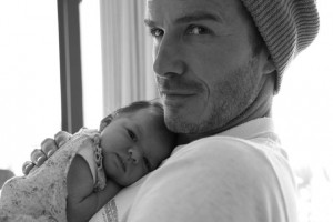David Beckham with daughter Harper Seven