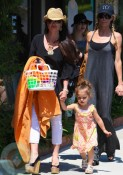 Kyle Richards with daughter Portia in Malibu