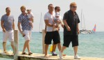Neil Patrick Harris along with Elton John and David Furnish with son Zachary in St.Tropez