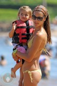 Alessandra Ambrosio and daughter Anja play on the Beach in Maui