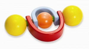 Image of recalled Manhattan Toy Twirlla Wooden Rattle