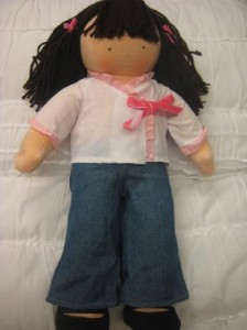 Photo of recalled Pottery Barn Dolls