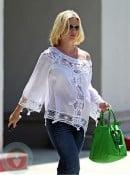 Pregnant January Jones running errands in LA