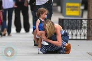 66276PCN_Leelee Sobieski and daughter Louisiana in Tribeca