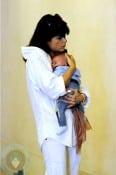 Selma Blair cuddling son Arthur in Venice