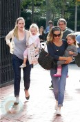 Sarah Jessica Parker and Matthew Broderick with daughters Marion and Tabitha