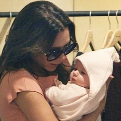 Victoria Beckham Keeps Harper Close in NYC